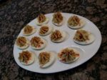 Deviled eggs. Or, as I tend to refer to them, Little Fart Bombs of Goodness.